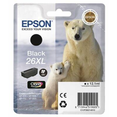 Epson T2621 (Nr. 26XL) eredeti fekete tintapatron (≈500oldal)