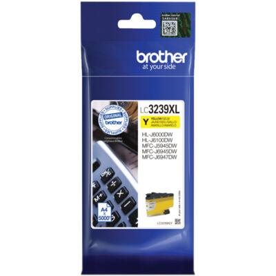 Brother LC3239xl Y (Sárga) eredeti nagy kapacitású tintapatron (~5000 oldal)