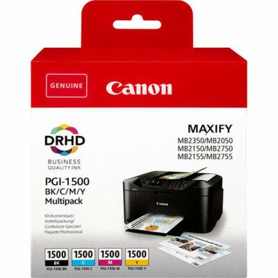 Canon® PGI-1500BCMY XL eredeti (fekete-cián-magenta-sárga)  tintapatron multipakk, ~1200/3x900 oldal (pgi1500xl)
