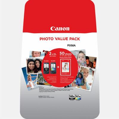 Canon® PG-560 XL/CL-561 XL eredeti (fekete+színes) tintapatron multipakk, ~400/300 oldal (pg560cl561)
