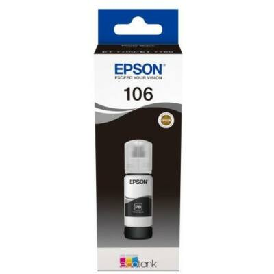 Epson® Nr.106 fotó fekete tinta (70ml) (T00R1) (≈5000oldal)