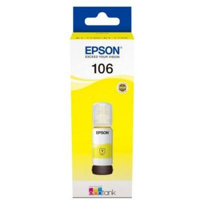 Epson® Nr.106 eredeti sárga tinta (70ml) (T00R4) (≈5000oldal