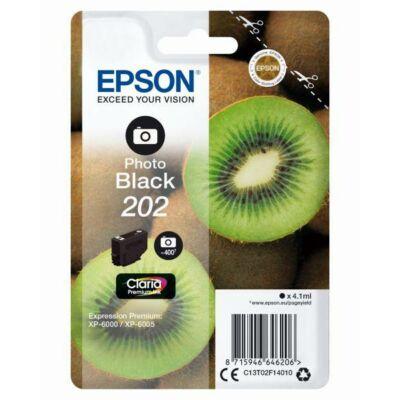 Epson 202 (T02F1) eredeti fotó fekete tintapatron, ~400 oldal