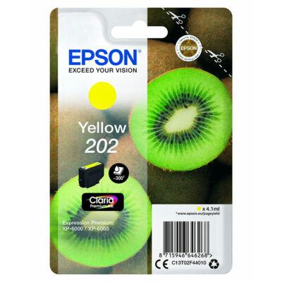 Epson 202 (T02F4) eredeti sárga tintapatron, ~300 oldal
