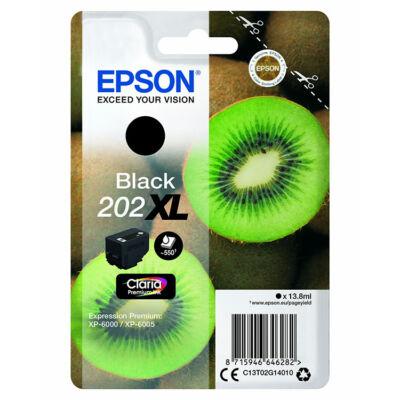Epson 202XL (T02G1) eredeti fekete XL tintapatron, ~550 oldal