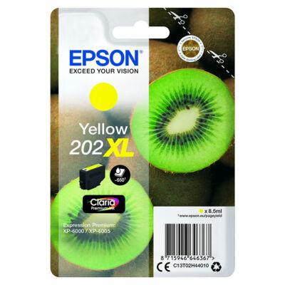 Epson 202XL (T02H4) eredeti sárga XL tintapatron, ~650 oldal