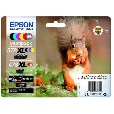 Epson T379D (378XL+478XL) eredeti  multipack (~465 oldal)
