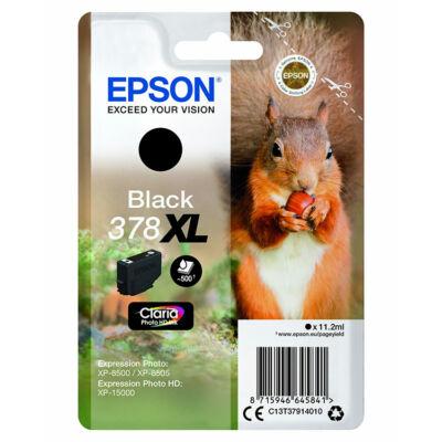 Epson T3791 (378XL) eredeti fekete patron (~500 oldal)