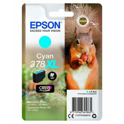 Epson T3792 (378XL) eredeti cián patron (~830 oldal)