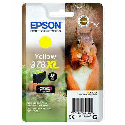 Epson T3794 (378XL) eredeti sárga patron (~830 oldal)
