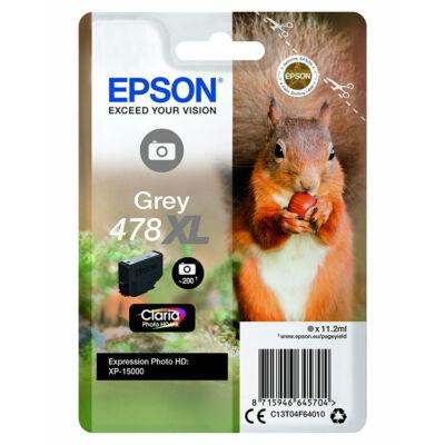 Epson T04F6 (478XL) eredeti szürke patron (~830 oldal)