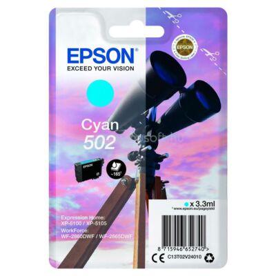 Epson Nr.502 eredeti cián tinta (C13T02V24010) 3,3ml (≈165 oldal)