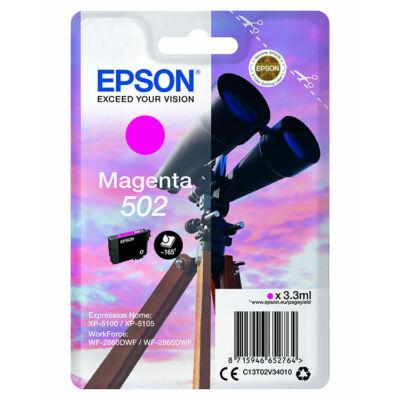 Epson Nr.502 eredeti magenta tinta (C13T02V34010) 3,3ml (≈165 oldal)