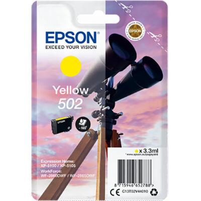 Epson Nr.502 eredeti sárga tinta (C13T02V44010) 3,3ml (≈165 oldal)