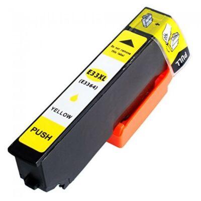 Epson-hoz Nr.33XL (T3364) utángyárott sárga tintapatron, ~650 oldal