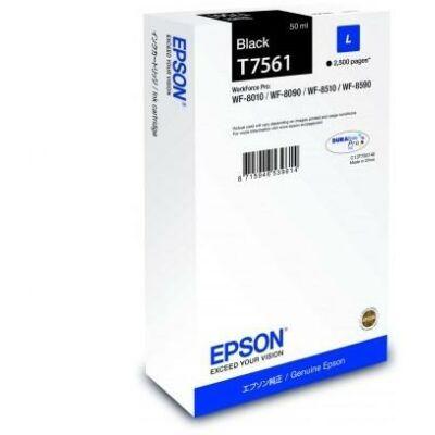 Epson T7561 eredeti fekete tintapatron, ~2500 oldal