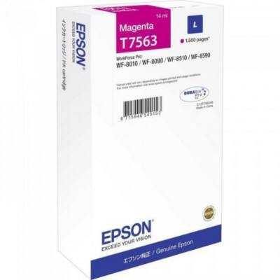 Epson T7563 eredeti magenta tintapatron, ~1500 oldal
