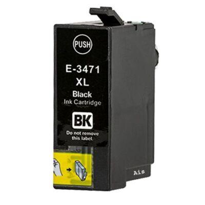 Epson T3471 (Nr. 34XL) utángyártott fekete tintapatron  (≈1100 oldal)
