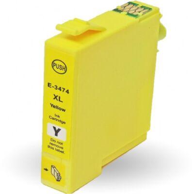 Epson T3474 (Nr. 34XL) utángyártott sárga tintapatron  (≈950 oldal)