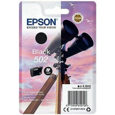 Epson Nr.502 eredeti fekete tinta (C13T02V14010) 4,6ml (≈210 oldal)