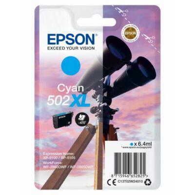 Epson Nr.502XL eredeti cián tinta (C13T02W24010) 6,4ml (≈470 oldal)