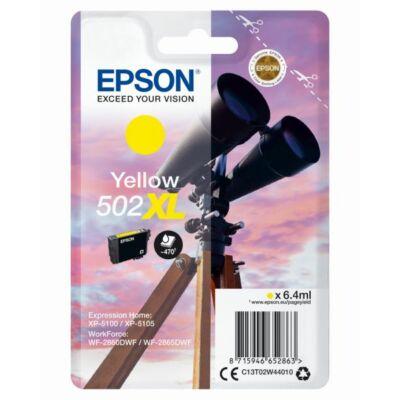 Epson Nr.502XL eredeti sárga tinta (C13T02W44010) 6,4ml (≈470 oldal)