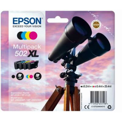 Epson Nr.502XL eredeti tintapatron multipakk (C13T02W64010) 28,4ml (≈ 1960 oldal)