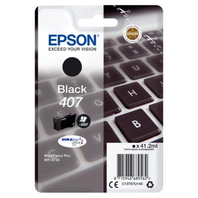 Epson Nr.407 eredeti fekete tintapatron (C13T07U140) 41,2ml (≈2500 oldal)