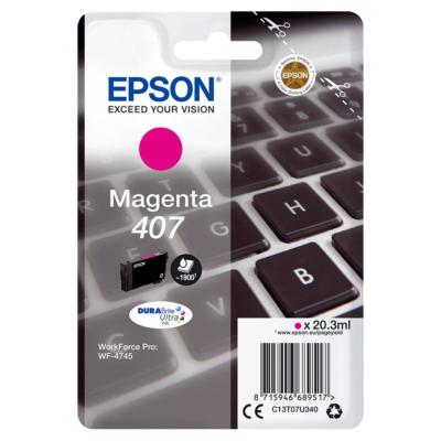 Epson Nr.407 eredeti magenta tintapatron (C13T07U340) 20,3ml (≈1900 oldal)