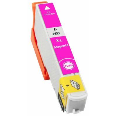 Epson -hoz T2433 magenta utángyártott tintapatron (24XL) (≈ 740oldal)