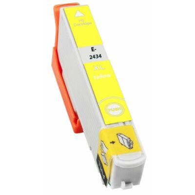 Epson -hoz T2434 sárga utángyártott tintapatron (24XL) (≈ 740oldal)