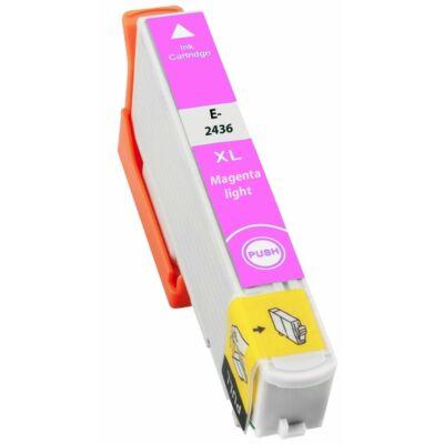 Epson -hoz T2436 világos magenta (LM)  utángyártott tintapatron (24XL) (≈ 740oldal)