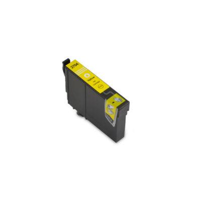 Epson -hoz T2704 (Nr.27) sárga utángyártott tintapatron, ~300 oldal