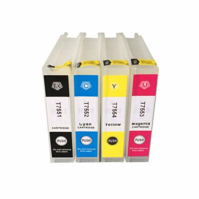 Epson -hoz T7553 utángyártott magenta tintapatron, ~4000 oldal