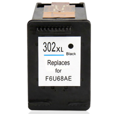 HP -hez Nr.302XL fekete utángyártott tintapatron, ~480 oldal (F6U68AE)