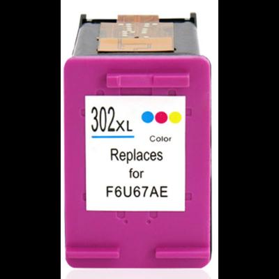 HP -hez Nr.302XL színes utángyártott tintapatron, ~330 oldal (F6U67AE)