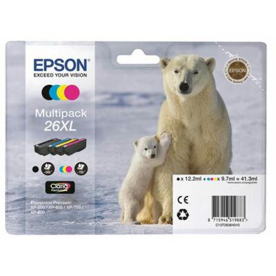 Epson T2636 (Nr.26XL) eredeti tintapatron multipakk (~2600)