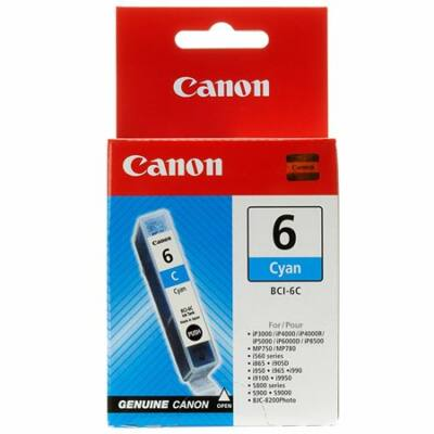Canon® BCI-6C eredeti cián tintapatron, ~420 oldal (bci6)