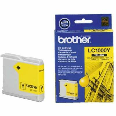 Brother LC1000 Y eredeti tintapatron (LC1000 LC-1000)