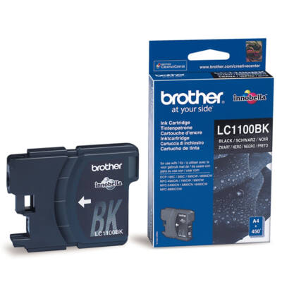 Brother LC1100 BK eredeti tintapatron ~450 oldal (LC1100)