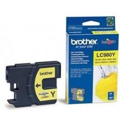 Brother LC980 Y sárga eredeti tintapatron