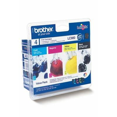 Brother LC985 BK/C/M/Y eredeti tintapatron pakk