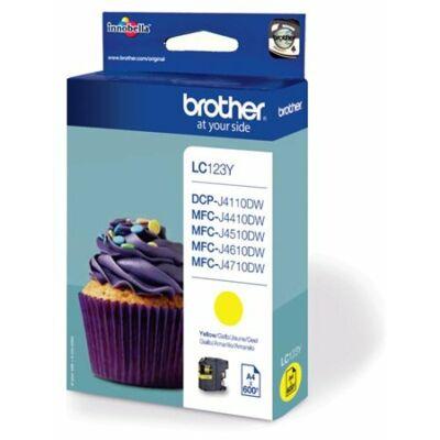 Brother LC123 Y (sárga) eredeti tintapatron