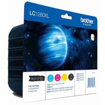 Brother LC1280XL-BK/C/M/Y  4db pakk eredeti tintapatron 3*1200 2400 oldal