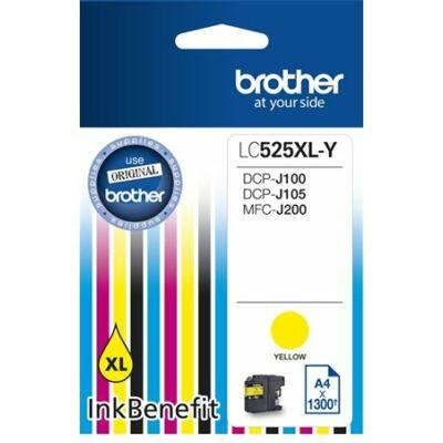 Brother LC525 sárga eredeti tintapatron (1300 oldal)