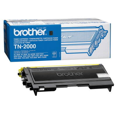 Brother TN2000 (TN-2000) eredeti toner (≈2500 oldal)