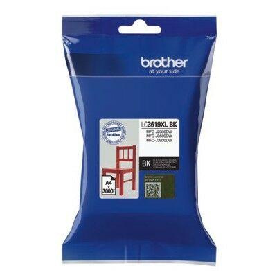Brother LC3619xl Bk (fekete) eredeti nagy kapacitású tintapatron (~3000 oldal)