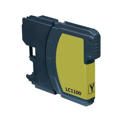 Brother nyomtatóhoz LC980/LC1100 Y (sárga) utángyártott tintapatron