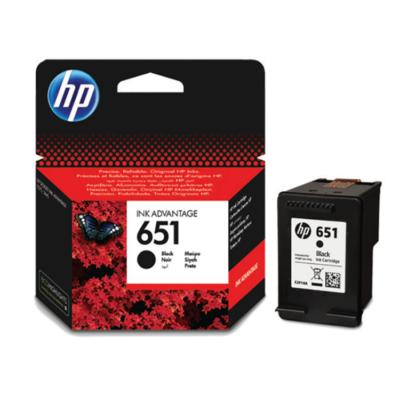 HP Nr.651 (C2P10AE) eredeti fekete tintapatron, ~600 oldal