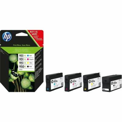 HP Nr.950XL/951XL (C2P43AE) eredeti (fekete-cián-magenta-sárga) tintapatron multipakk, (~2300 oldal fekete, 3x1500 oldal színes)
